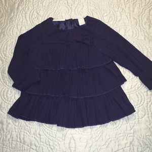 Precious Infant Navy Ruffle Shirt